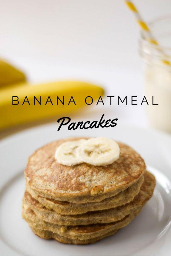 Banana Oatmeal Protein Pancakes {Gluten Free} #recipes #healthybreakfast #breakfastrecipes #healthybreakfastrecipes #food #foodporn #healthy #yummy #instafood #foodie #delicious #dinner #breakfast #dessert #lunch #vegan #cake #eatclean #homemade #diet #healthyfood #cleaneating #foodstagram