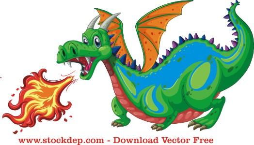 Vector Con Rồng Lửa