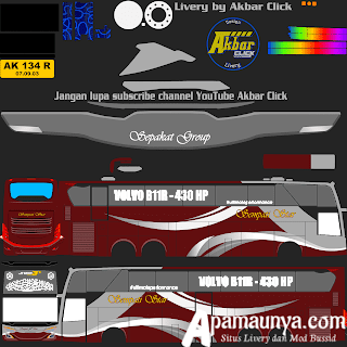 Livery Bus Simpati Star JB3+ UHD Volvo B11R MD Creation