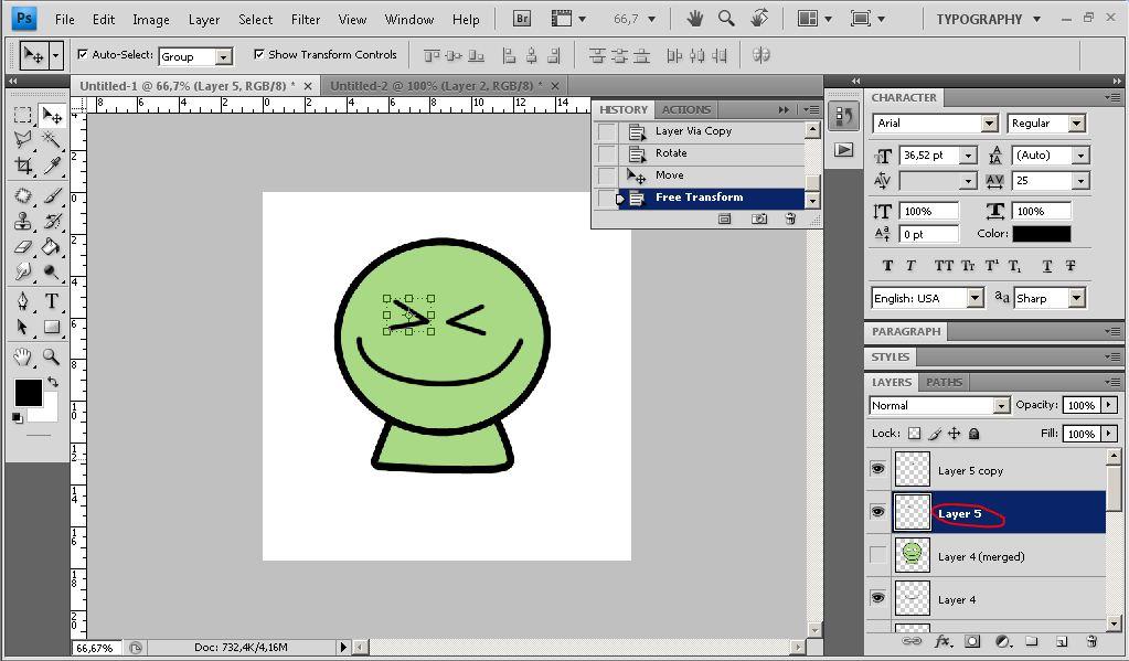 Cara membuat animasi kartun bergerak dengan photoshop cs4 | seribu.