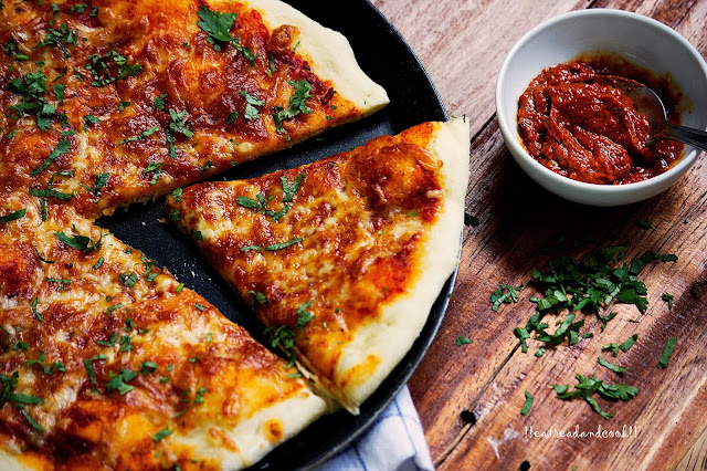 how to make Harissa Pizaa recipe and preparation
