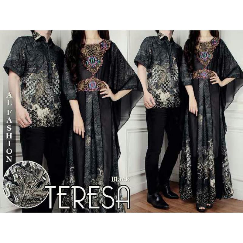 Jual Batik Gamis Couple Teresa Black - 24227