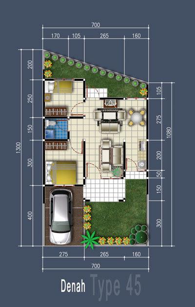10 denah rumah ideal 2017 desain rumah minimalis