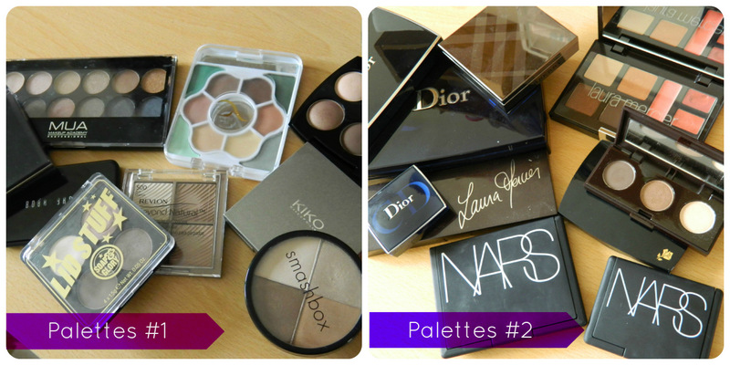 Makeup Collection: Eyeshadow and Face Palettes