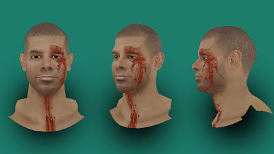 NBA 2K13 Shane Battier Injured Cyberface Bloody Face Wounded
