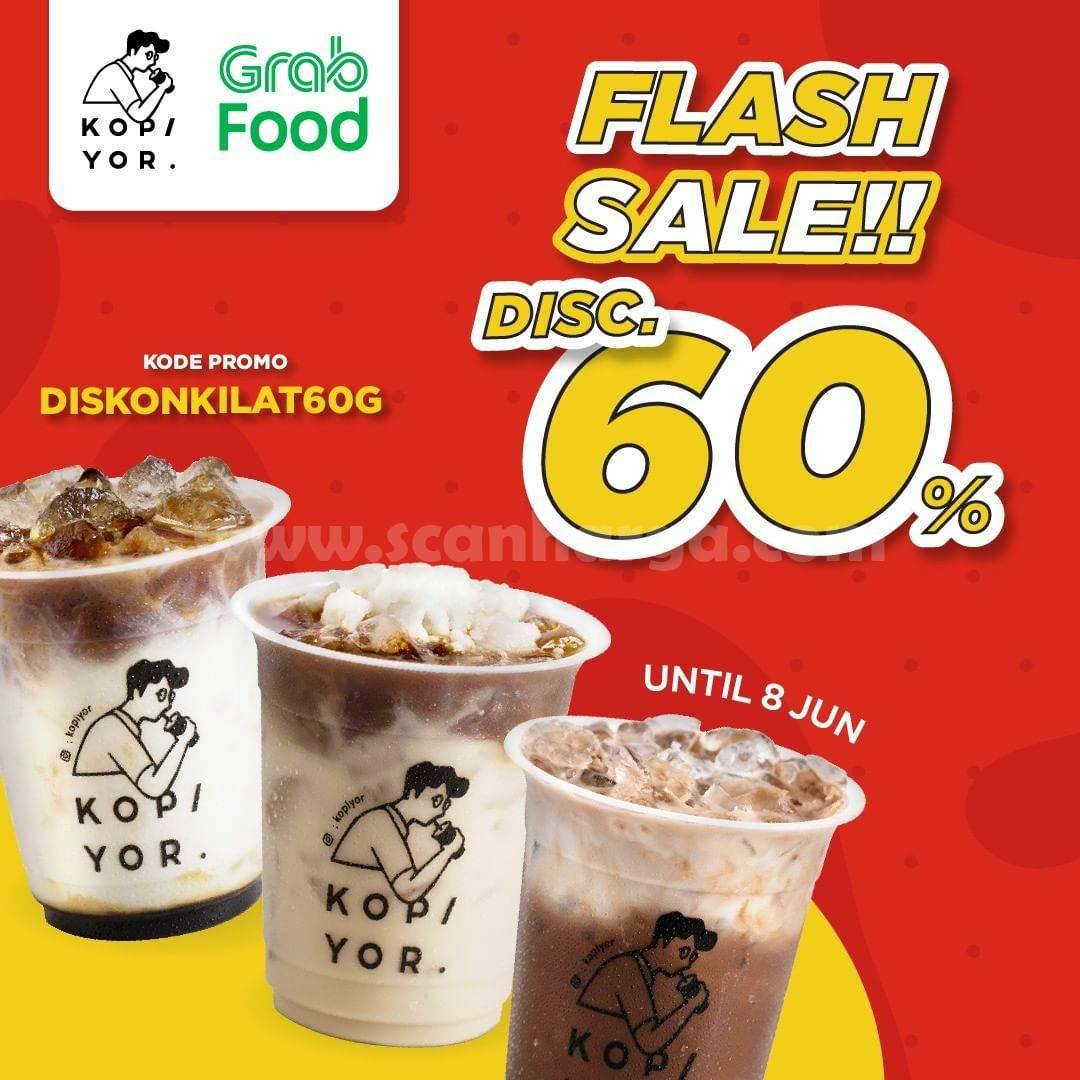 Promo KOPI YOR Flash Sale GRABFOOD - Diskon hingga 50%