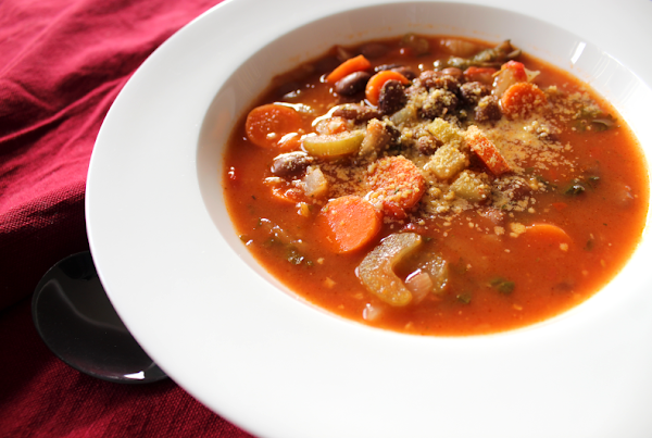 Rustic Italian Bean and Vegetable Soup
