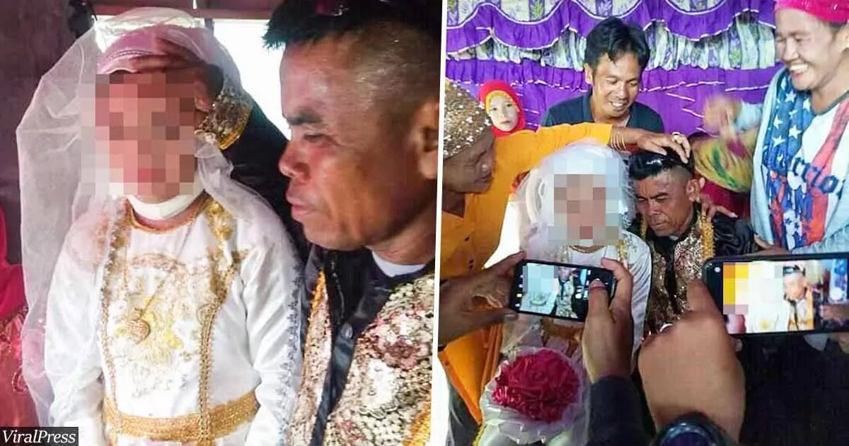 Shocking Photos From The Philippines Show Wedding Between 13-Year-Old Girl And 48-Year-Old Man