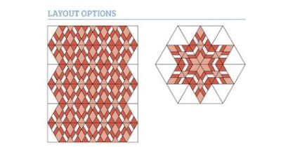 Emporer triangle block quilt layout ideas