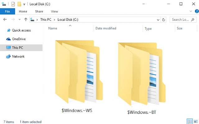What is $Windows. BT Folder in Windows 7/8/8.1/10?