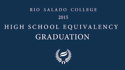 Program cover for Rio Salado College 2015 HSE Graduation