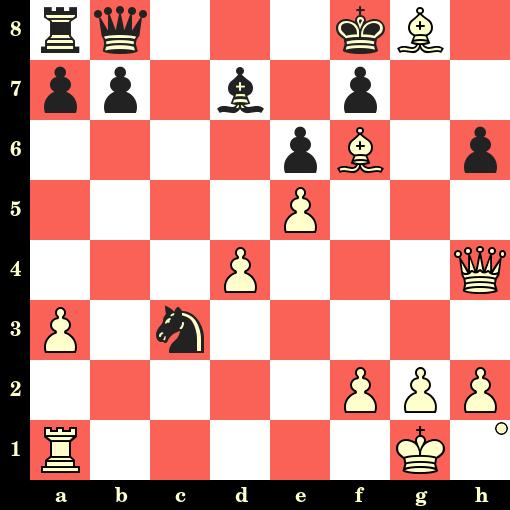 Les Blancs jouent et matent en 4 coups - Isaac Kashdan vs Charles Jaffe, Boston, 1938