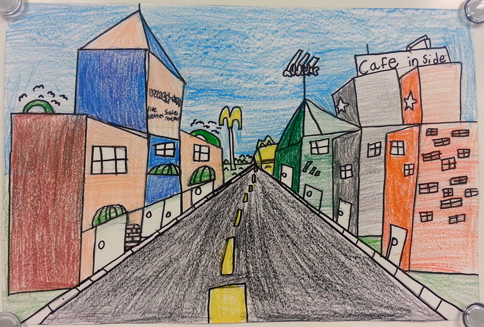 One Point Perspective City Streets 5th