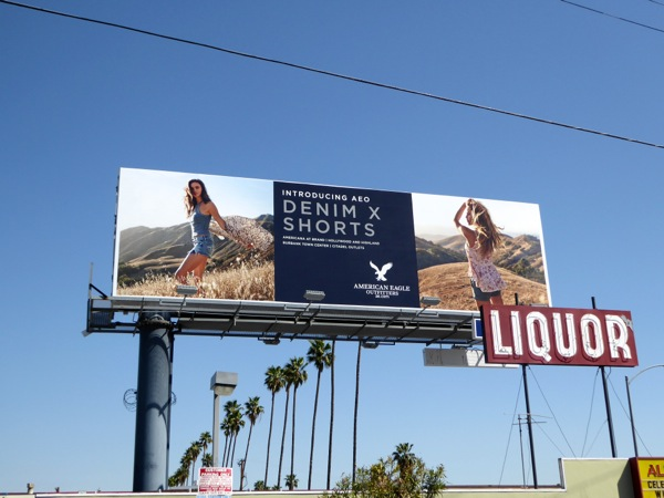 American eagle Outfitters Denim X Shorts billboard