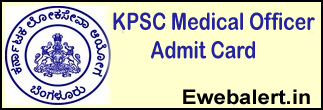 KPSC Medical Officer Admit Card