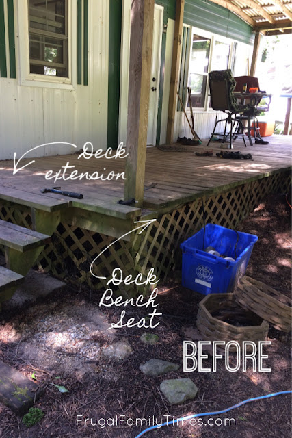 adding bench to existing deck