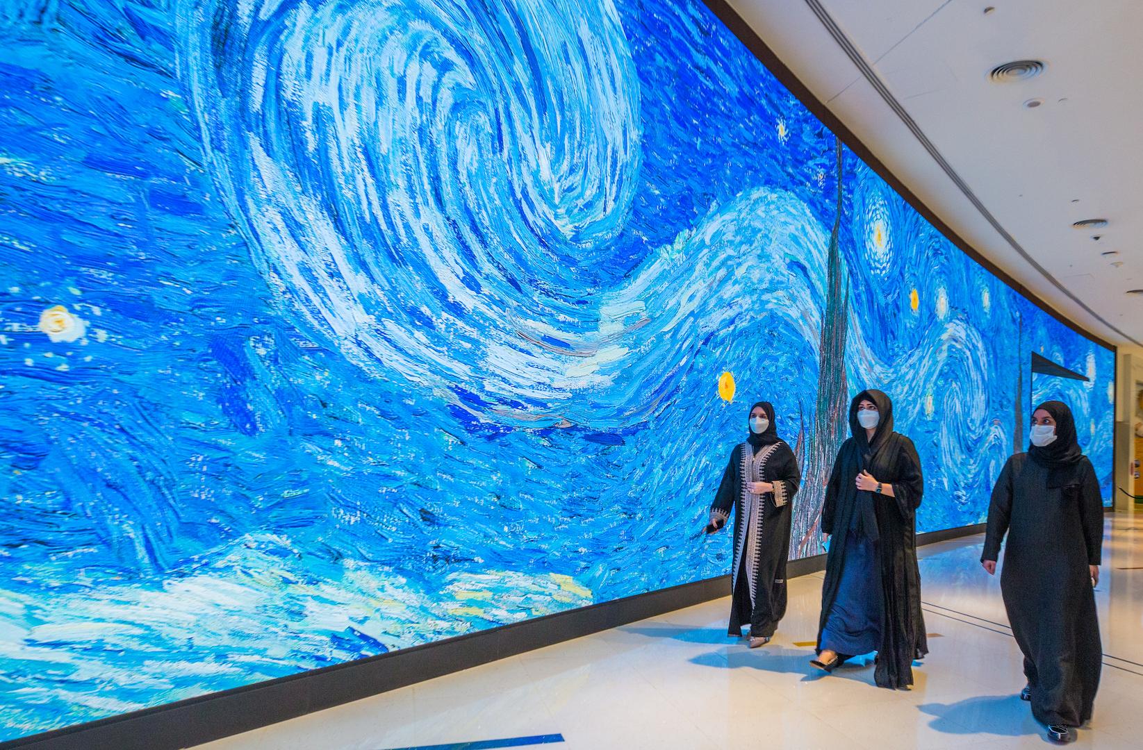 Latifa bint Mohammed opens immersive digital art centre