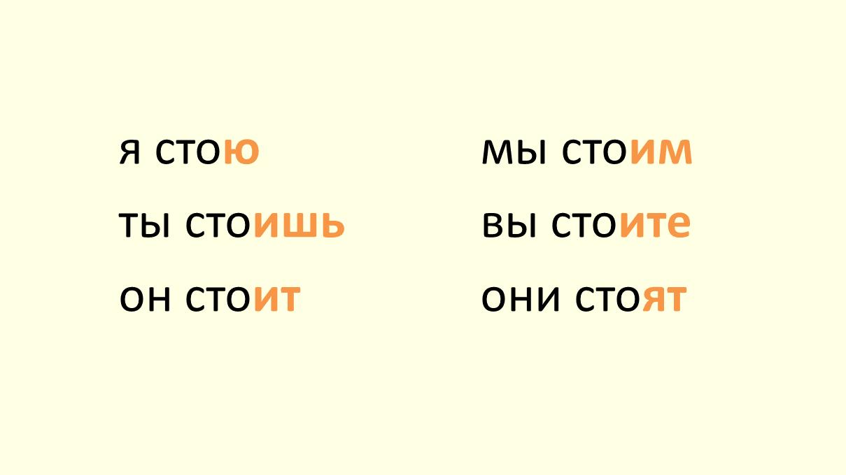 verb stoyat' conjugation