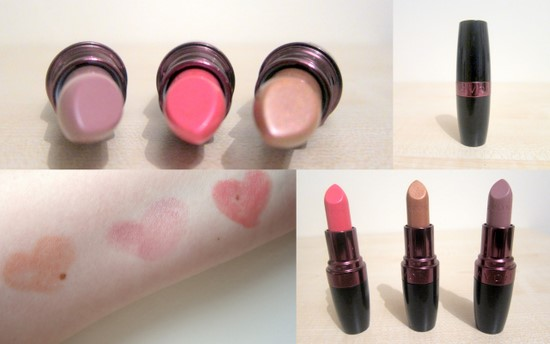 Avon Ultra Colour Rich Lipsticks In Apricot Mystery Nude And