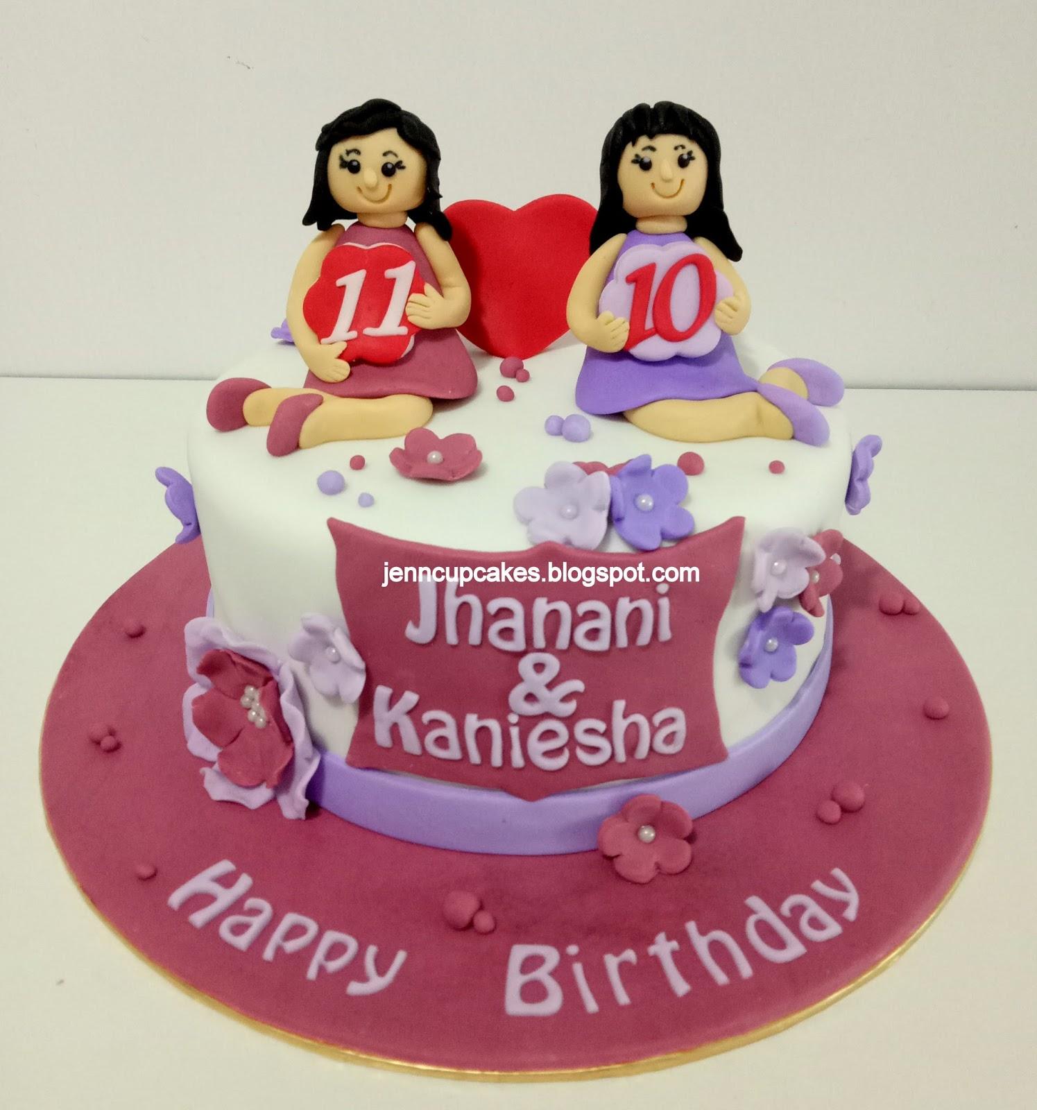 Groovy Jenn Cupcakes Muffins Joint Birthday Cake Personalised Birthday Cards Xaembasilily Jamesorg