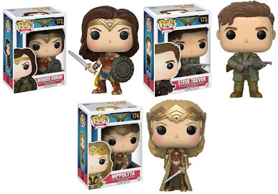 Wonder Woman Movie Pop! Vinyl Figure Series by Funko - Wonder Woman, Steve Trevor & Hippolyta