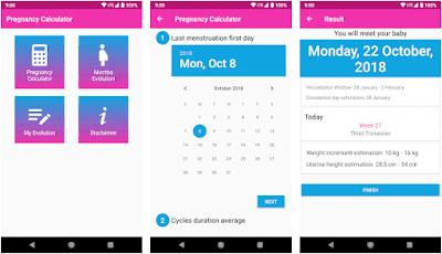 Aplikasi Pregnancy Calculator and Calendar
