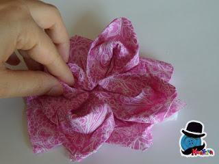 fai da te un origami con tovagliolo
