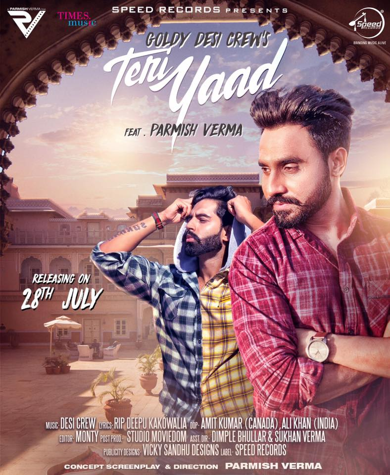 Teri Yaad Lyrics - Goldy Desi Crew Ft Parmish Verma Latest Song