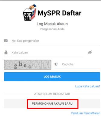 Pendaftaran Pemilih Pengundi Melalui MySPR Daftar