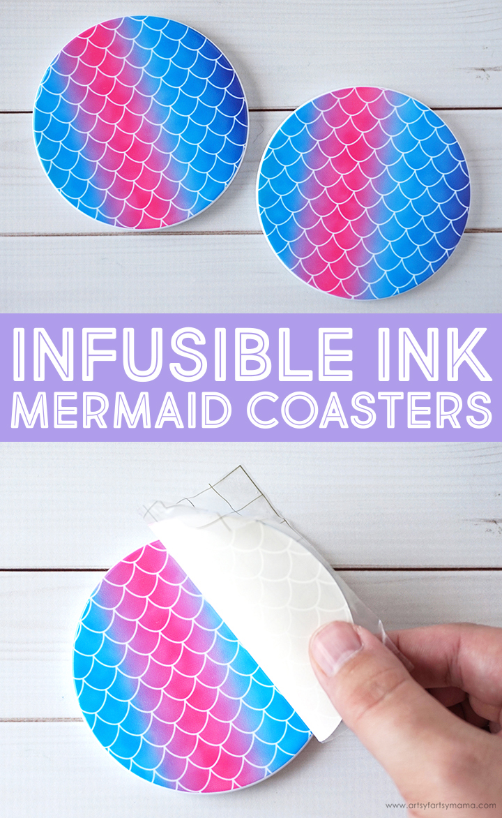 Cricut Infusible Ink Mermaid Coasters