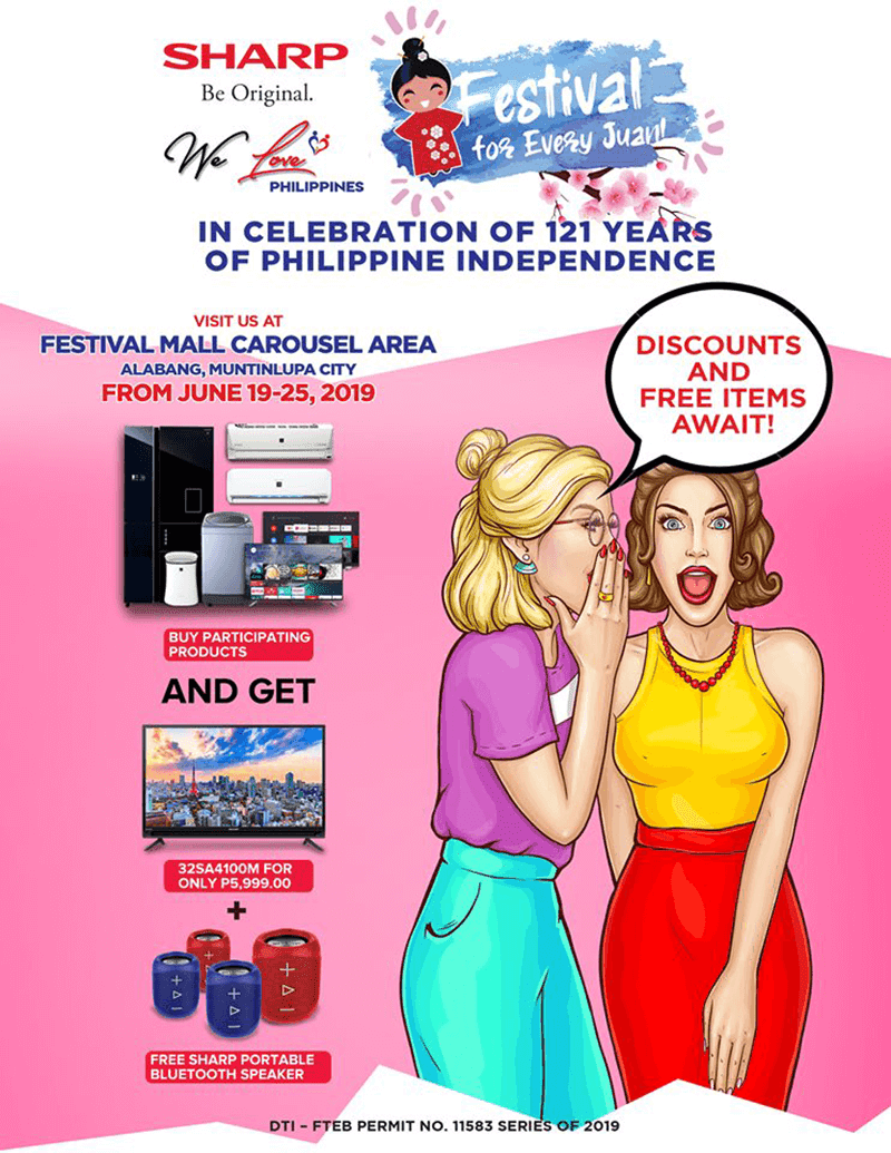 Sharp celebrates Philippine Independence, announces discounts and freebies!