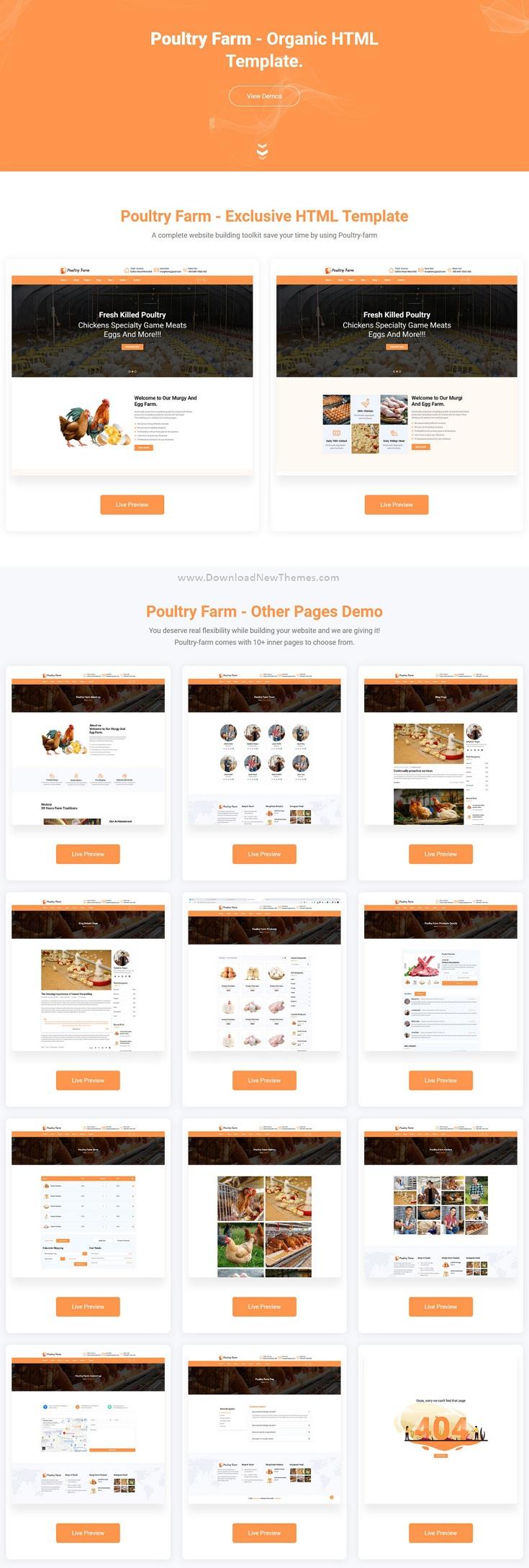Download PoultryFarm Organic Poultry HTML Template