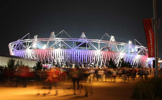 London Olympics 2012 #3: on the way home - the stadium at night