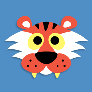 photo about Tiger Mask Printable known as Printable Animal Masks: Printable Tiger Mask