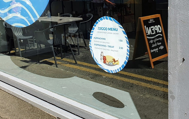Galway cafe with a menu for dogs