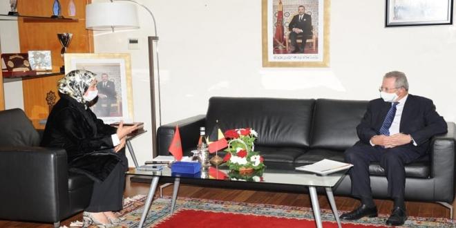 """تعبئة الكفاءات وجذب استثمارات """"الجالية"""" محور لقاء بين وزيرة """"مغاربة العالم"""" وسفير بلجيكا بالمغرب"""