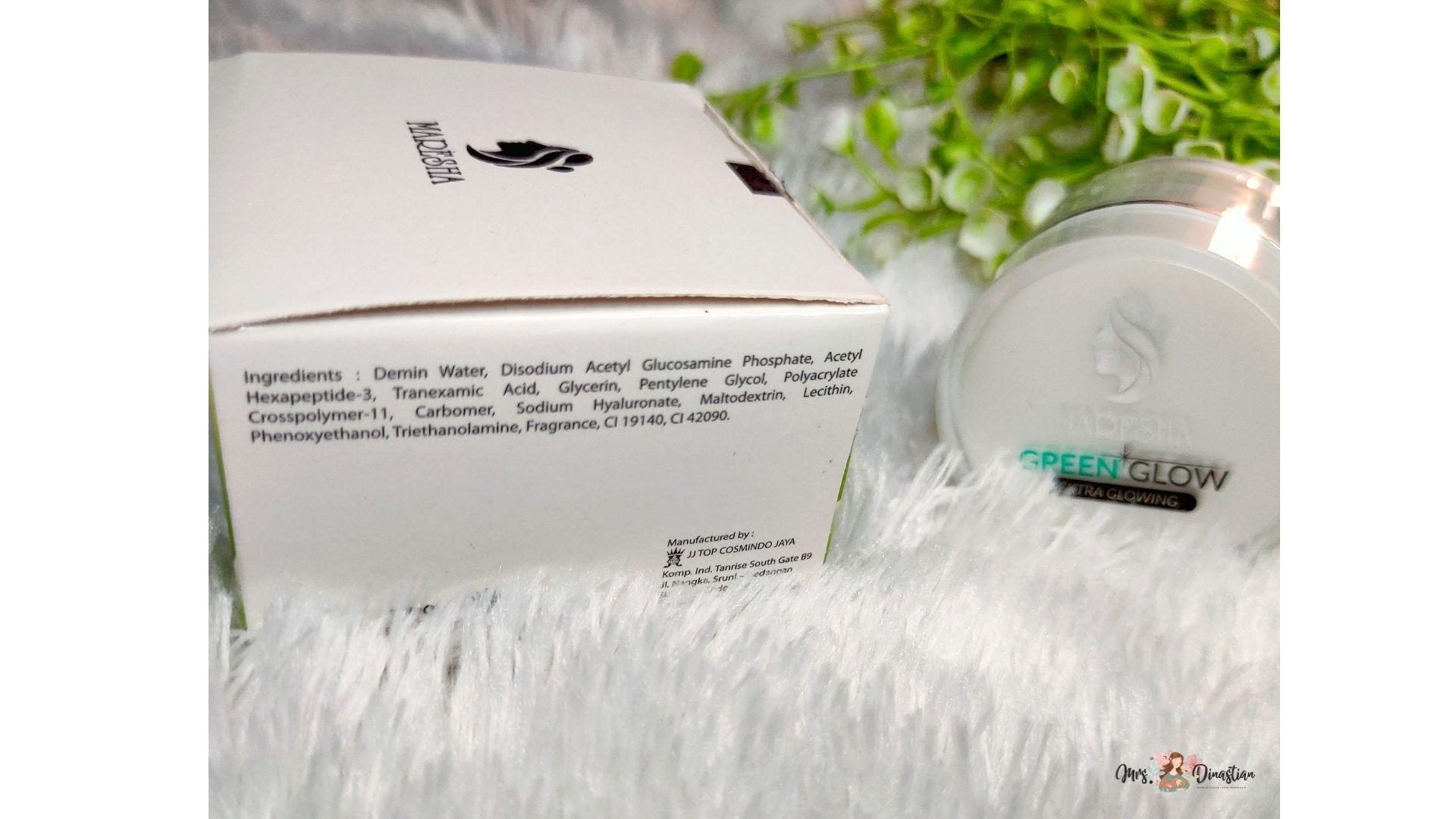 Ingredients Green Glow Maresha Skincare