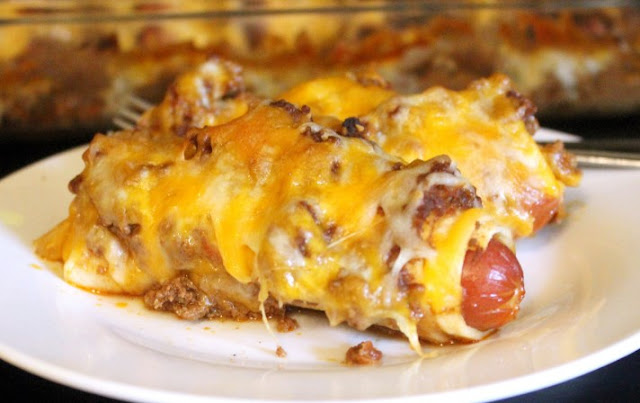 Low Carb Chili Dog Bake #lowcarb #dinner