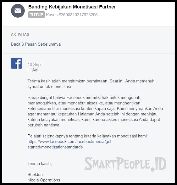 Hasil Banding Monetisasi Halaman Facebook