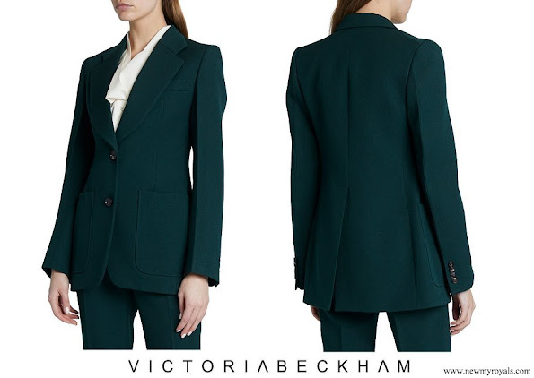 The Countess of Wessex wore VICTORIA BECKHAM Patch Pocket Fitted Jacket