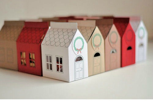 7 ideas de packaging navideño: casita de regalo | http://bizcochosysancochos.blogspot.com/