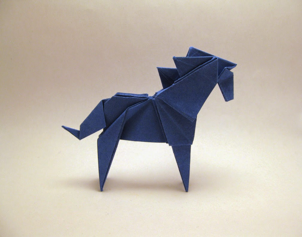 How-to craft an Origami Horse instructions - Fold paper horse with ... | 792x1009