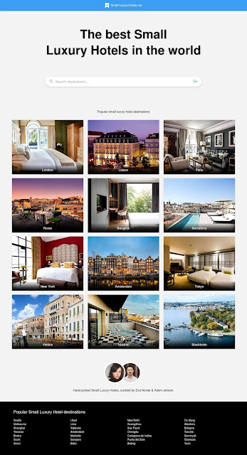 Small Luxury Hotels startpage
