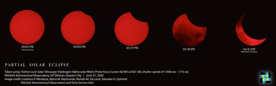 Partial Solar Eclipse taken at PAGASA