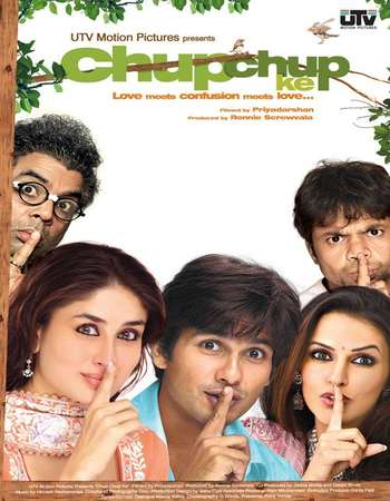 Poster Of Chup Chup Ke 2006 Hindi 700MB  720p HEVC Watch Online Free Download world4ufree.org