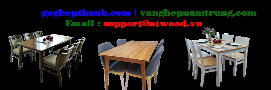Bàn ghế gỗ cao su Hàn Quốc