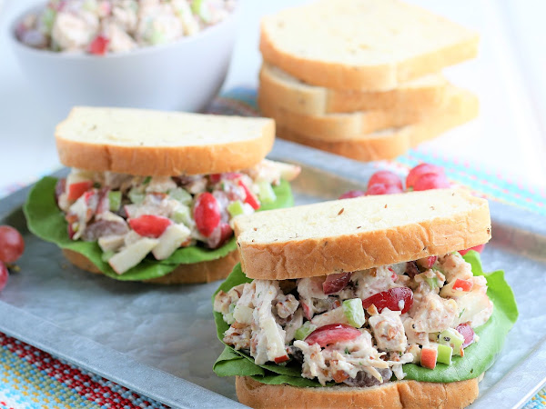 Leftover Turkey Salad Sandwiches