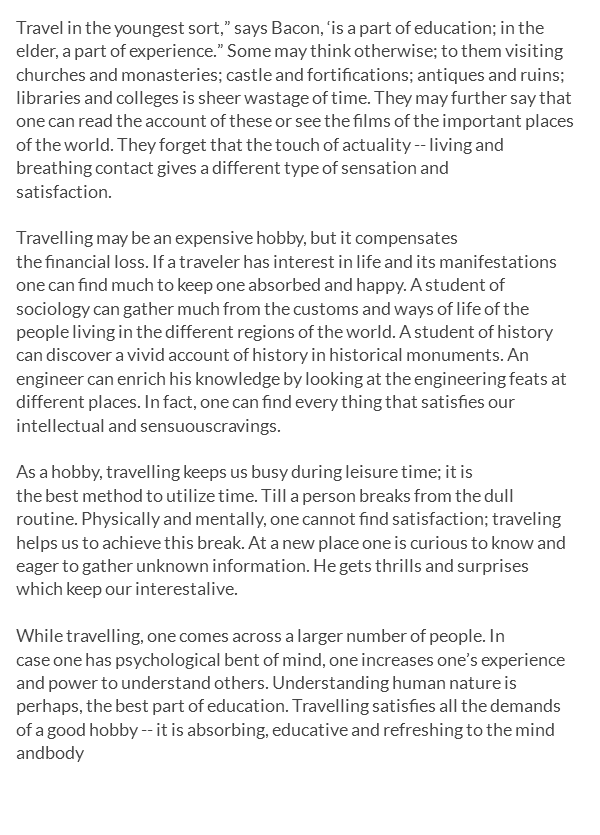 easy and outstanding essay on travelling as a hobby for th and  travelling as a hobby essay my favorite hobby is traveling tell me about your hobby travelling