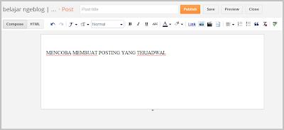 Langkah 1 Cara Membuat Posting Terjadwal di Blogger
