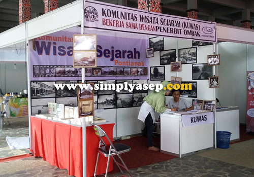KOWAS : Komunikasi Wisata Sejarah (KOWAS) juga hadir di acara gelaran Kalbar Book Fair 2016 ini.  Terbuka untuk umum. Foto Asep Haryono